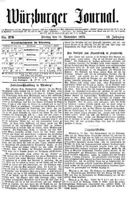 Würzburger Journal Freitag 21. November 1873