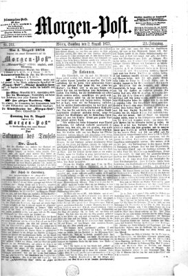 Morgenpost Samstag 2. August 1873