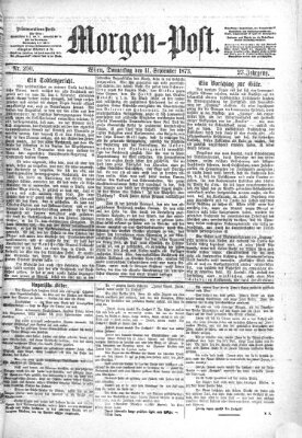 Morgenpost Donnerstag 11. September 1873