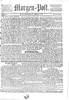 Morgenpost Montag 15. September 1873