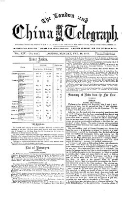 The London and China telegraph Montag 19. Februar 1872