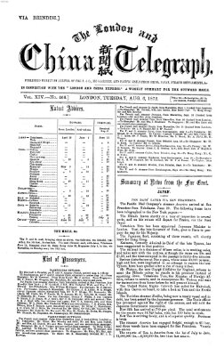 The London and China telegraph Dienstag 6. August 1872