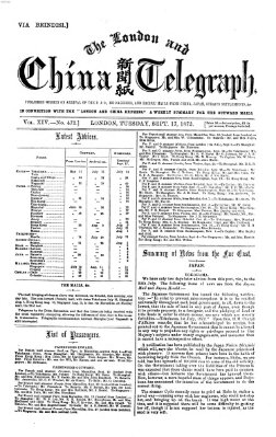 The London and China telegraph Dienstag 17. September 1872
