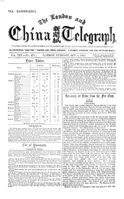 The London and China telegraph Dienstag 8. Oktober 1872