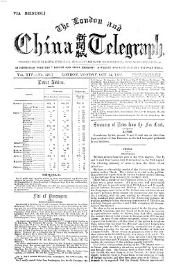 The London and China telegraph Montag 14. Oktober 1872