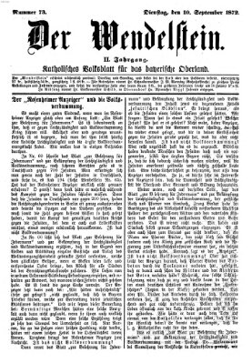 Wendelstein Dienstag 10. September 1872