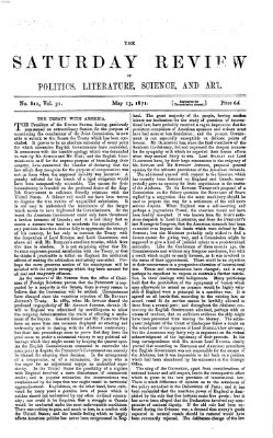 Saturday review Samstag 13. Mai 1871