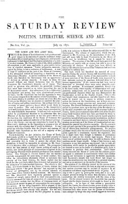 Saturday review Samstag 29. Juli 1871