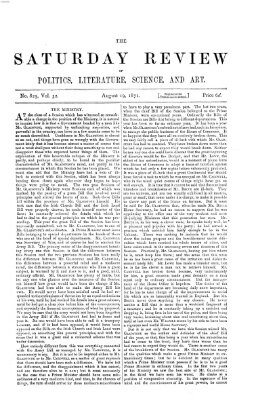 Saturday review Samstag 19. August 1871