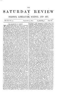 Saturday review Samstag 9. September 1871
