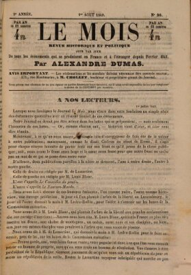 Le Mois Mittwoch 1. August 1849
