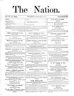 The nation Donnerstag 9. Februar 1871