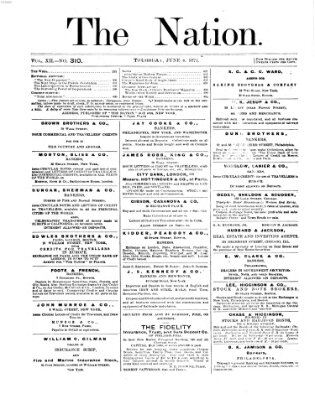 The nation Donnerstag 8. Juni 1871
