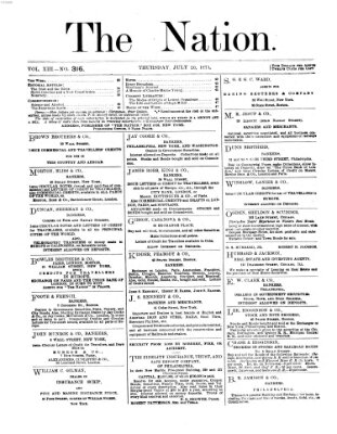 The nation Donnerstag 20. Juli 1871