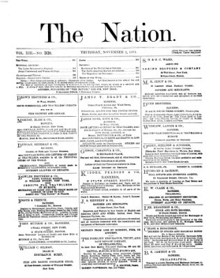 The nation Donnerstag 2. November 1871
