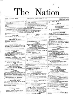 The nation Donnerstag 28. Dezember 1871