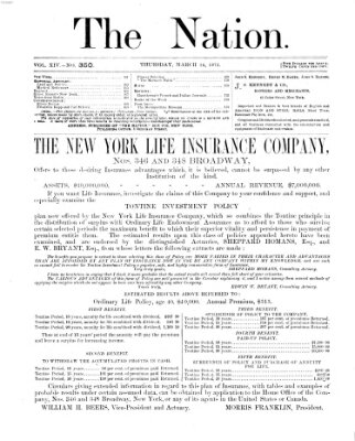 The nation Donnerstag 14. März 1872