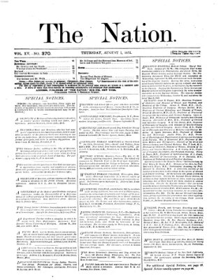 The nation Donnerstag 1. August 1872