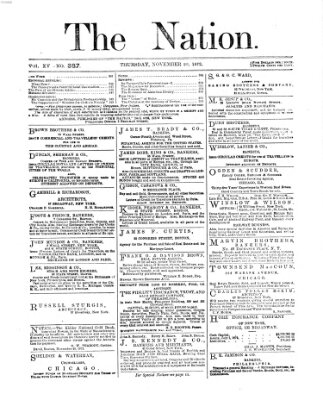 The nation Donnerstag 28. November 1872