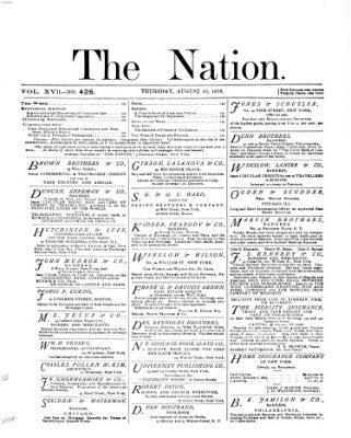 The nation Donnerstag 28. August 1873