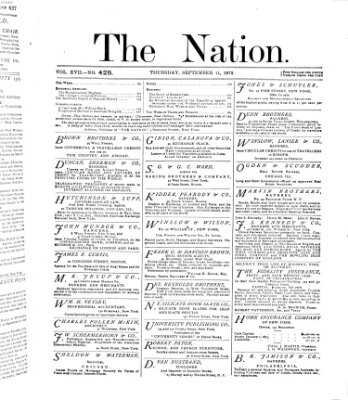 The nation Donnerstag 11. September 1873
