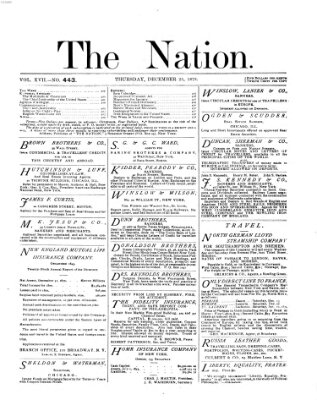 The nation Donnerstag 25. Dezember 1873