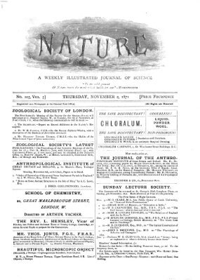 Nature Donnerstag 2. November 1871