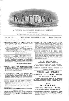 Nature Donnerstag 28. November 1872