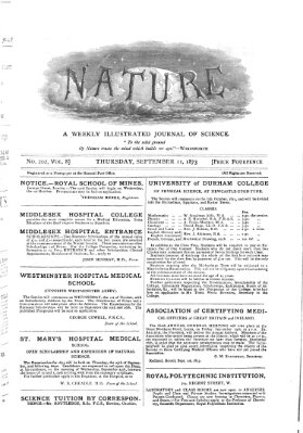 Nature Donnerstag 11. September 1873