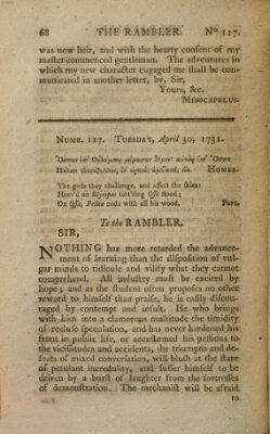 The rambler Freitag 30. April 1751