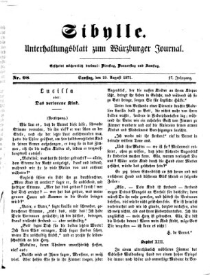 Sibylle (Würzburger Journal) Samstag 19. August 1871