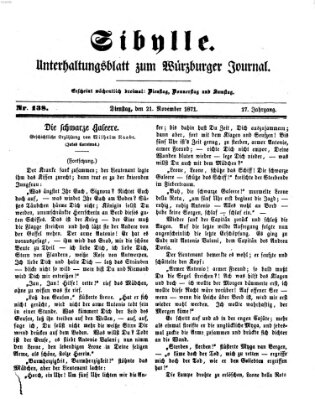 Sibylle (Würzburger Journal) Dienstag 21. November 1871