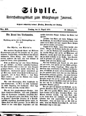 Sibylle (Würzburger Journal) Dienstag 13. August 1872
