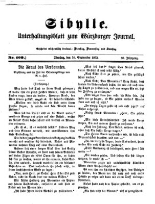 Sibylle (Würzburger Journal) Dienstag 10. September 1872