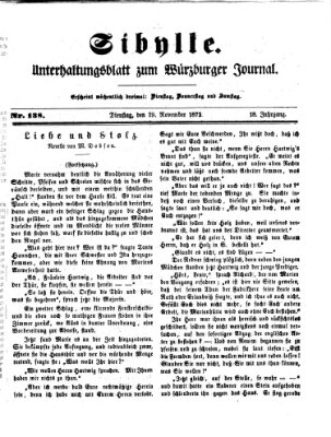 Sibylle (Würzburger Journal) Dienstag 19. November 1872