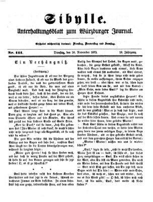 Sibylle (Würzburger Journal) Dienstag 26. November 1872