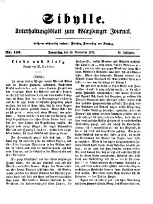 Sibylle (Würzburger Journal) Donnerstag 28. November 1872