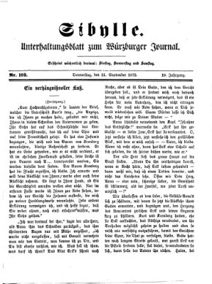 Sibylle (Würzburger Journal) Donnerstag 11. September 1873