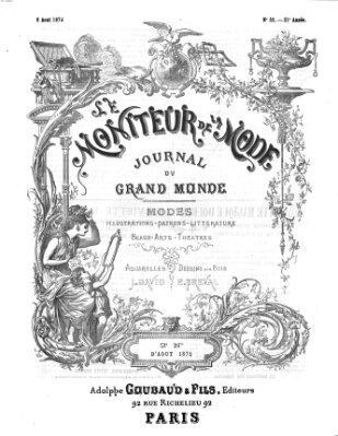 Le Moniteur de la mode Samstag 8. August 1874
