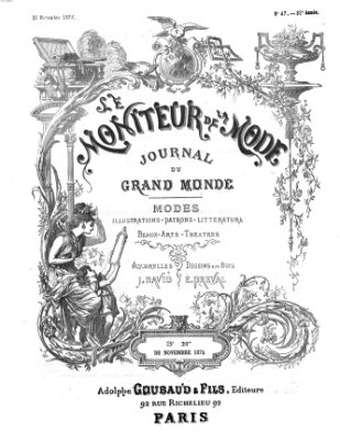 Le Moniteur de la mode Samstag 21. November 1874