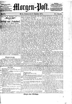 Morgenpost Sonntag 13. September 1874