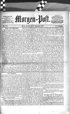 Morgenpost Freitag 18. September 1874
