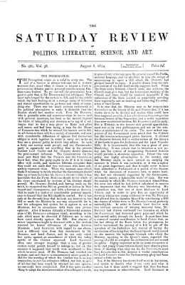 Saturday review Samstag 8. August 1874