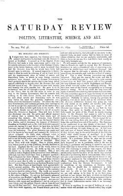 Saturday review Samstag 21. November 1874
