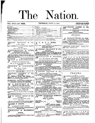 The nation Donnerstag 18. Juni 1874