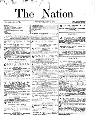 The nation Donnerstag 2. Juli 1874