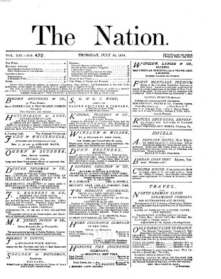 The nation Donnerstag 16. Juli 1874