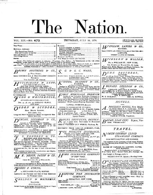 The nation Donnerstag 23. Juli 1874