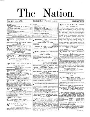 The nation Donnerstag 19. November 1874