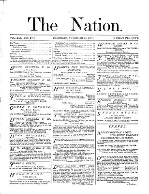 The nation Donnerstag 26. November 1874